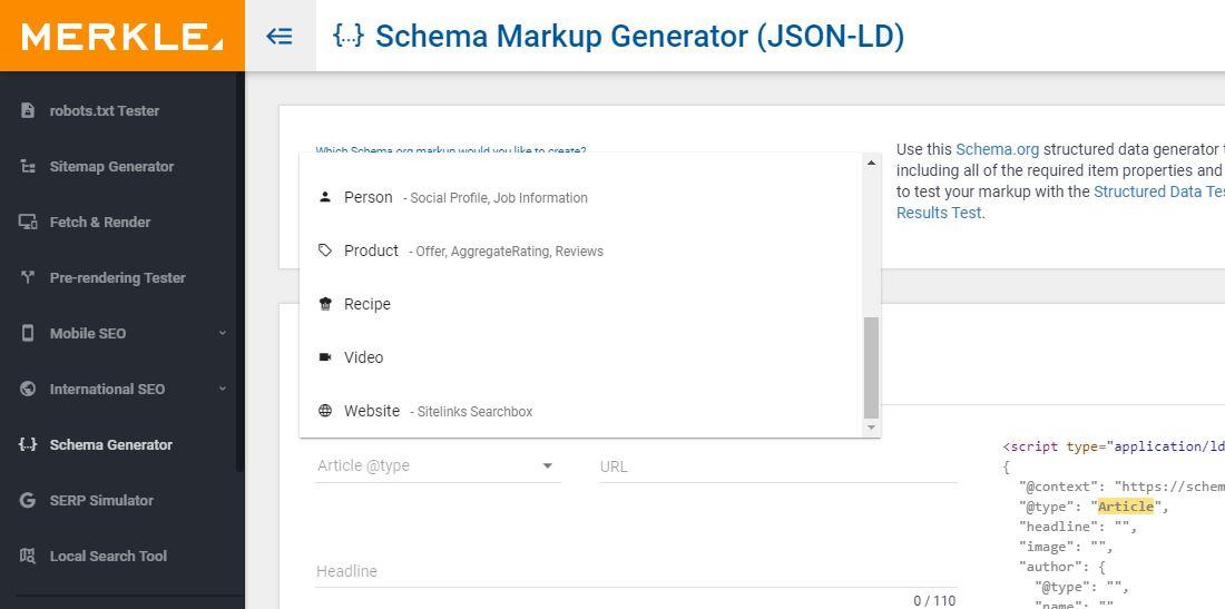 گام اول ساخت اسکیمای json-ld