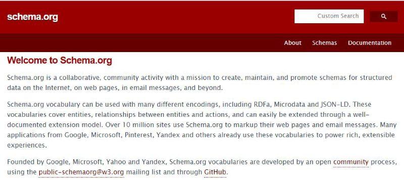 وبسایت schema.org