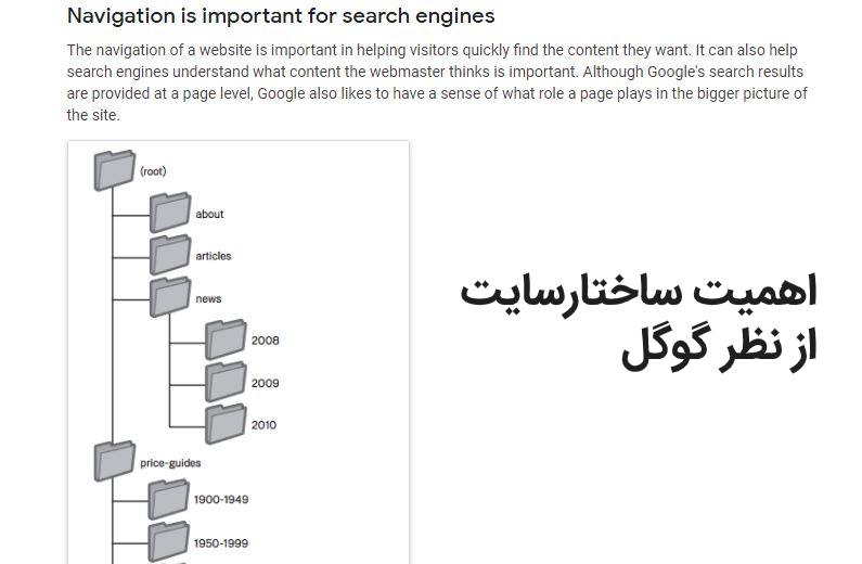 ساختار و معماری صحیح سایت در سئو از نظر گوگل